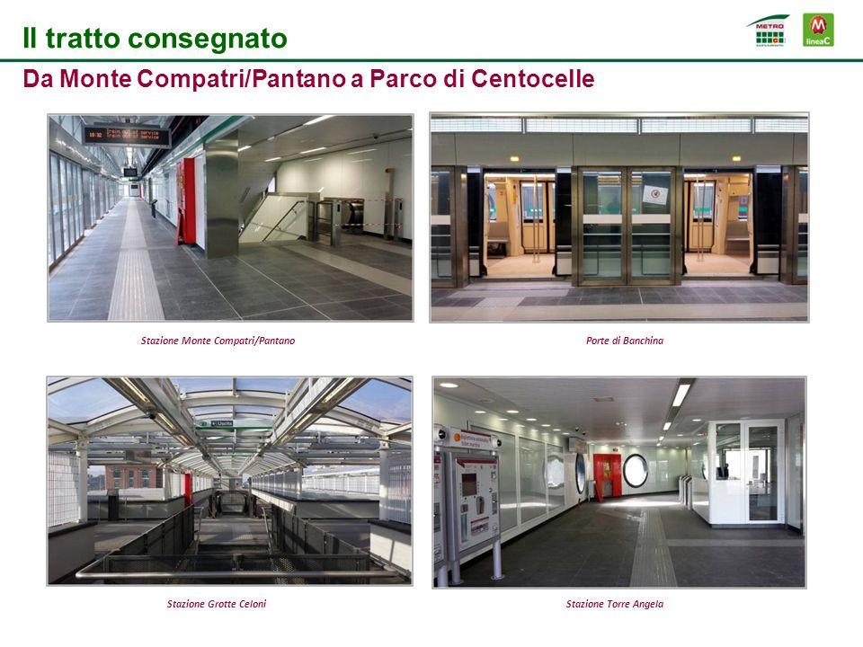 Il tratto consegnato Da Monte Compatri/Pantano a Parco di Centocelle Stazione Monte Compatri/PantanoPorte di Banchina Stazione Grotte CeloniStazione T