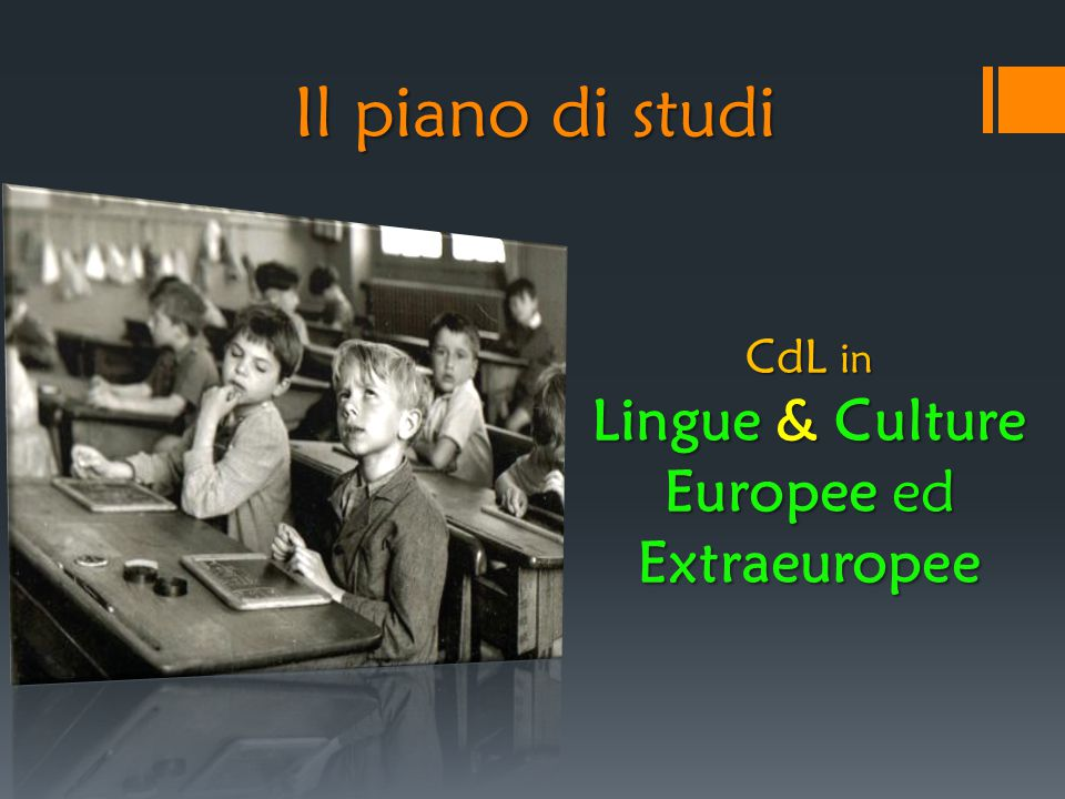 Il piano di studi CdL in Lingue & Culture Europee ed Extraeuropee