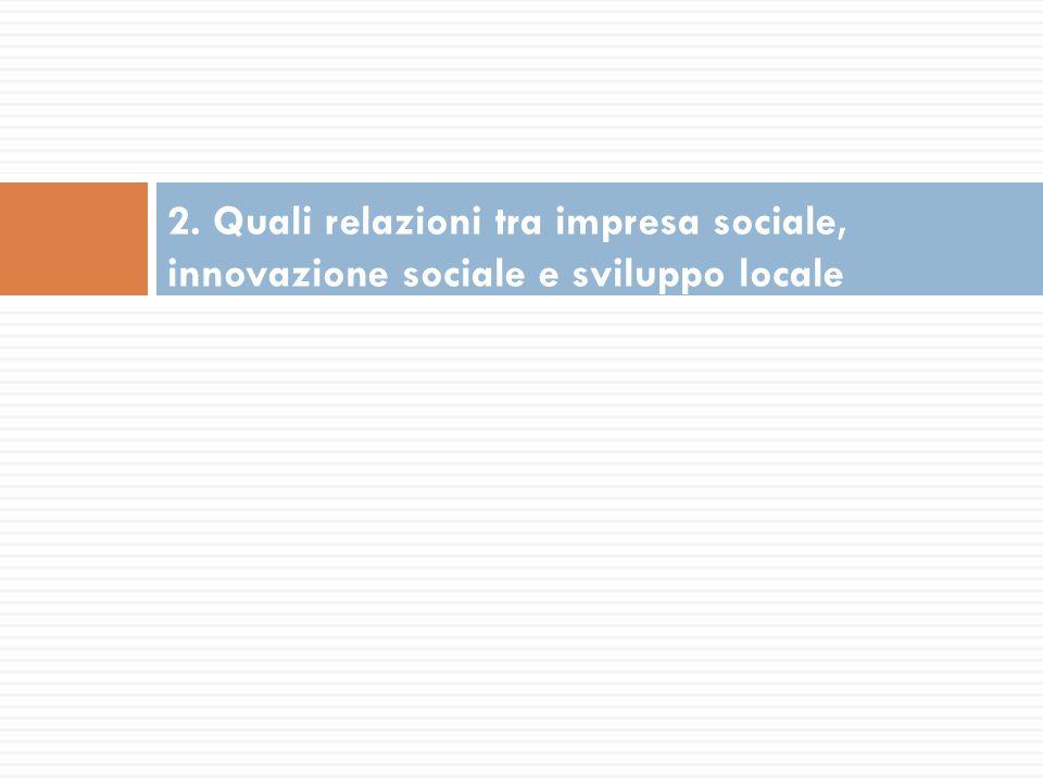 2. Quali relazioni tra impresa sociale, innovazione sociale e sviluppo locale