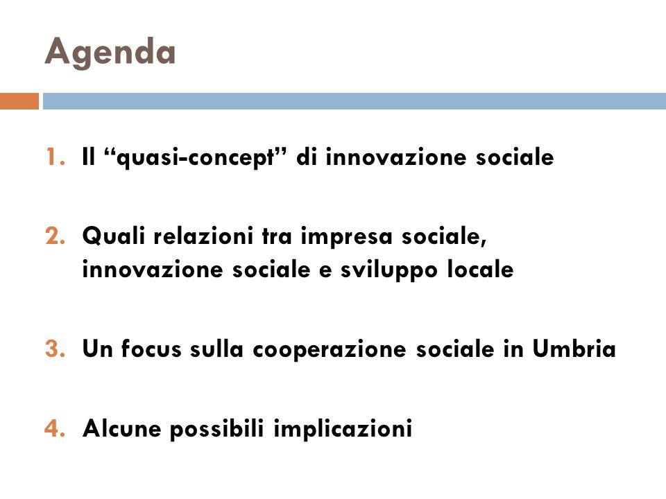 1. Il quasi-concept di innovazione sociale
