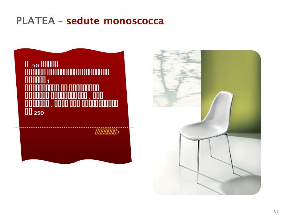 PLATEA – sedute monoscocca n.