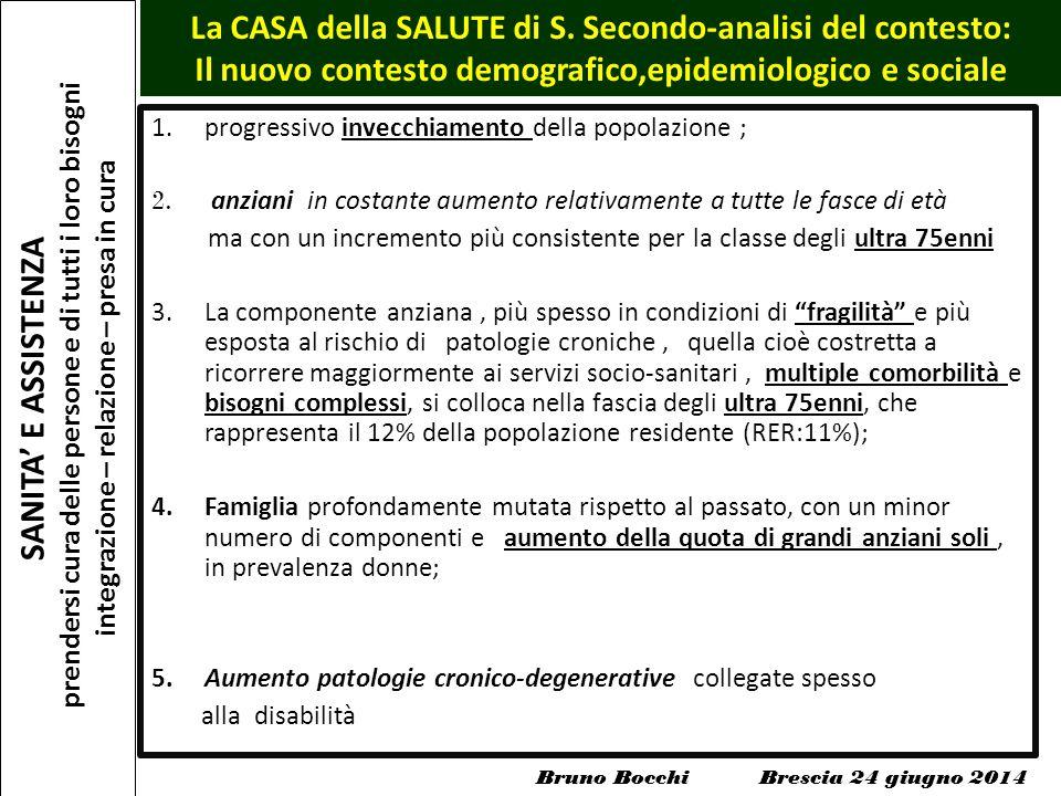 SANITA' E ASSISTENZA prendersi cura delle persone e di tutti i loro bisogni integrazione – relazione – presa in cura La CASA della SALUTE di S. Second