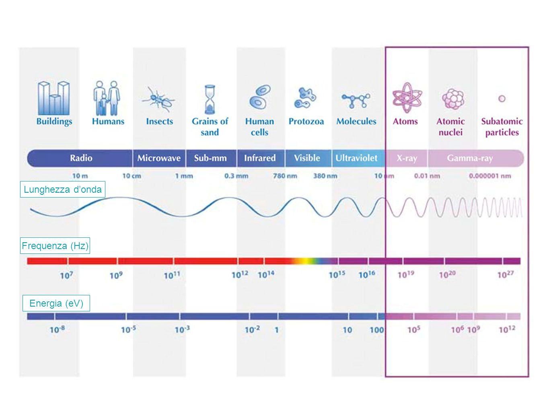 Frequenza (Hz) Lunghezza d'onda Energia (eV)