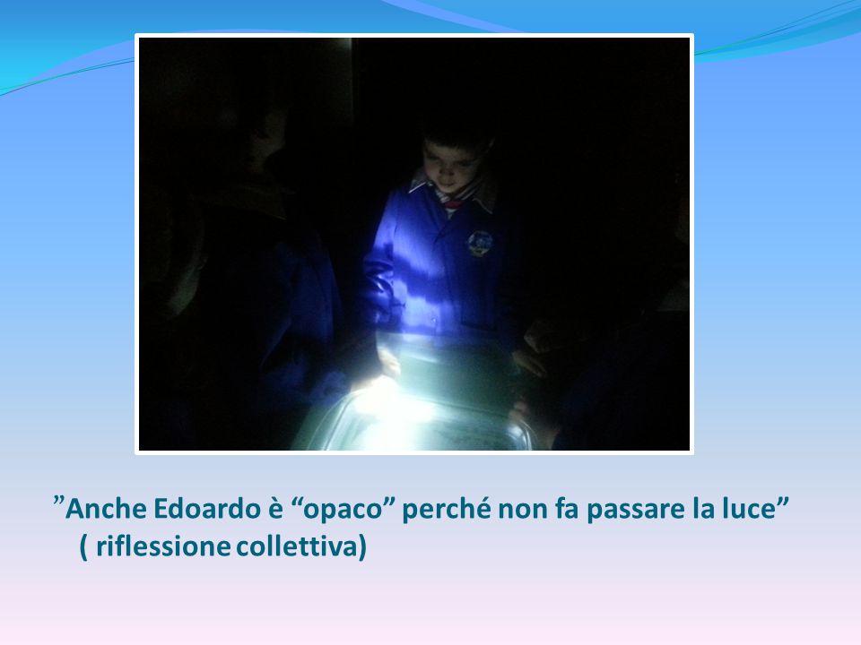 """""""Anche Edoardo è """"opaco"""" perché non fa passare la luce"""" ( riflessione collettiva)"""