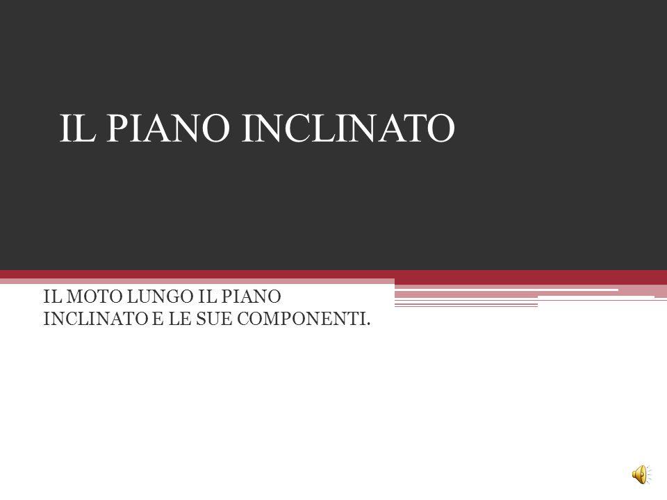 IL PIANO INCLINATO IL MOTO LUNGO IL PIANO INCLINATO E LE SUE COMPONENTI.