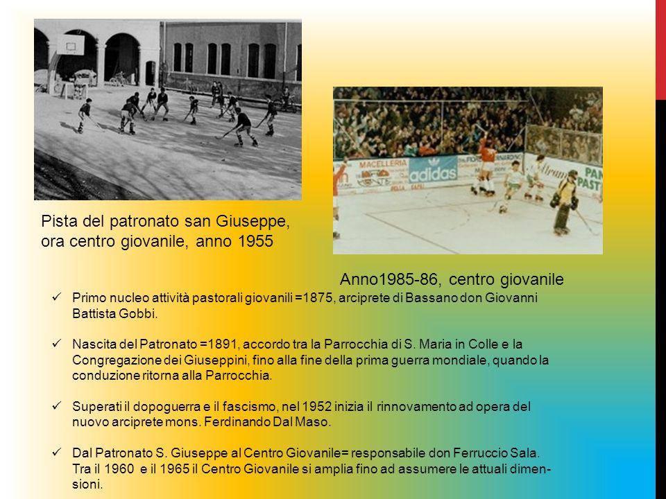 Pista del patronato san Giuseppe, ora centro giovanile, anno 1955 Anno1985-86, centro giovanile Primo nucleo attività pastorali giovanili =1875, arcip