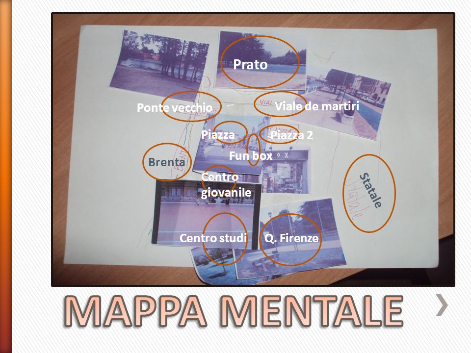 Ponte vecchio Statale Q. Firenze Brenta Prato Viale de martiri Piazza 2 Piazza Fun box Centro giovanile Centro studi