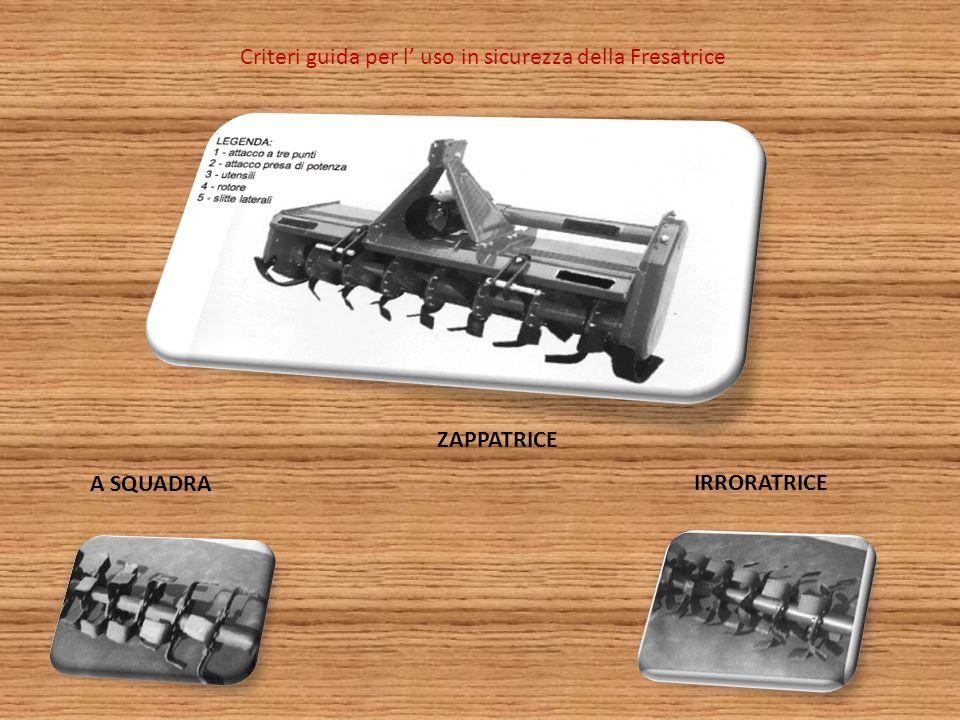 Criteri guida per l' uso in sicurezza della Fresatrice ZAPPATRICE A SQUADRA IRRORATRICE