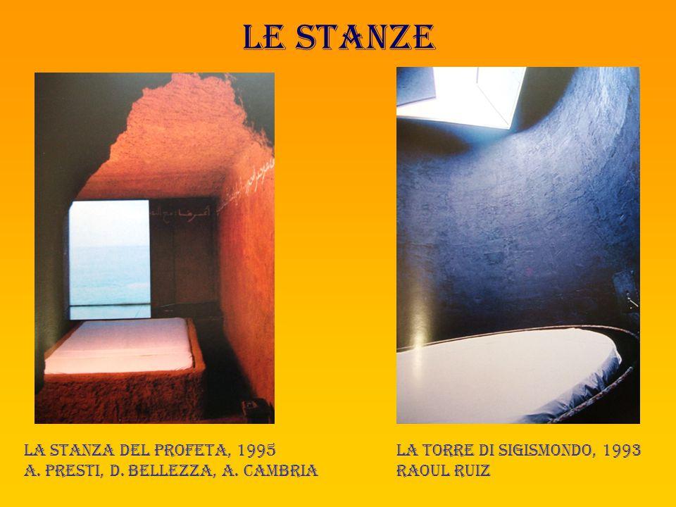 Le stanze Sogni tra segni,1994 Renato curcio, agostino ferrari La stanza della pittura, 1996 Pietro dorazio, graziano marini