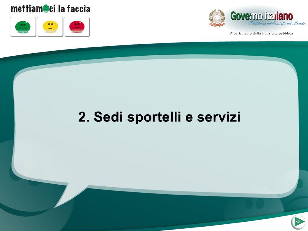 2. Sedi sportelli e servizi 10