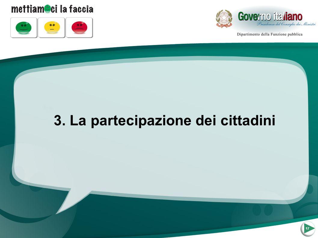 3. La partecipazione dei cittadini 17
