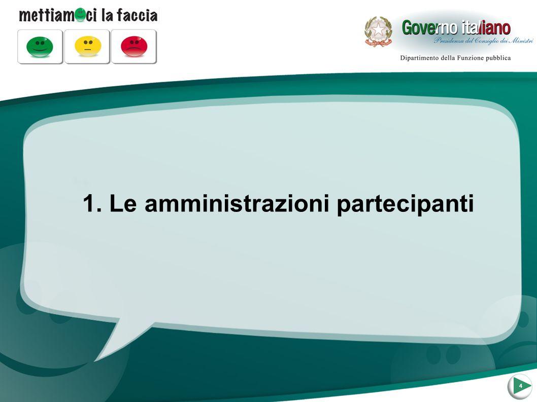 1. Le amministrazioni partecipanti 4