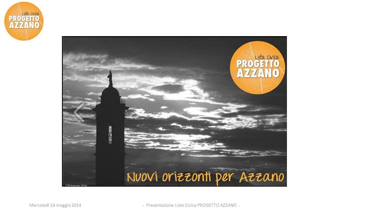 - Presentazione Lista Civica PROGETTO AZZANO -Mercoledì 14 maggio 2014
