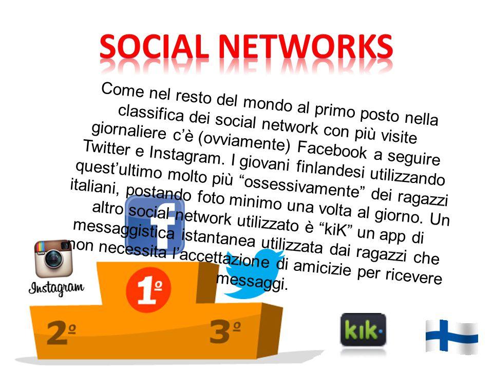 Come nel resto del mondo al primo posto nella classifica dei social network con più visite giornaliere c'è (ovviamente) Facebook a seguire Twitter e I