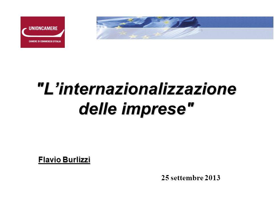L'internazionalizzazione delle imprese Flavio Burlizzi 25 settembre 2013