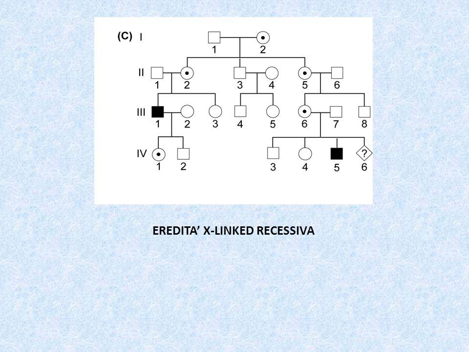 EREDITA' X-LINKED RECESSIVA