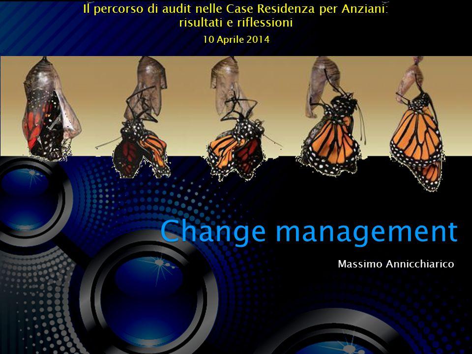 Massimo Annicchiarico Change management Il percorso di audit nelle Case Residenza per Anziani: risultati e riflessioni 10 Aprile 2014