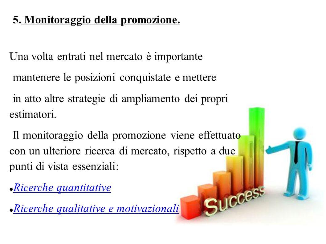 4. Il marchio. Determinare il posizionamento cioè attivare una strategia attraverso la quale si dà al prodotto (o al servizio) un'immagine apprezzata,