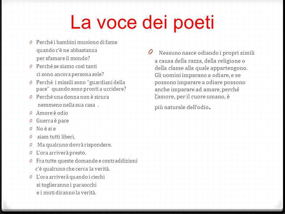 La voce dei poeti 0 Perché i bambini muoiono di fame quando c'è ne abbastanza per sfamare il mondo.