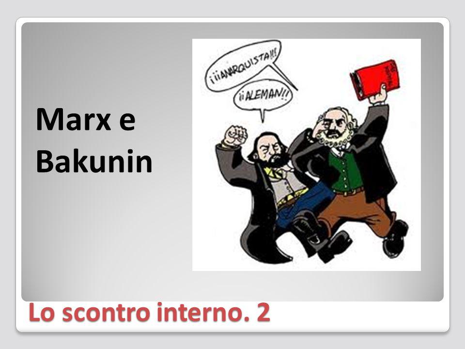 Lo scontro interno. 2 Marx e Bakunin
