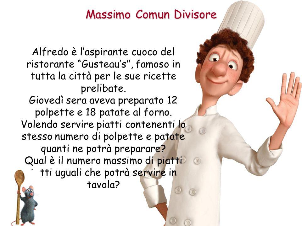 """Massimo Comun Divisore Alfredo è l'aspirante cuoco del ristorante """"Gusteau's"""", famoso in tutta la città per le sue ricette prelibate. Giovedì sera ave"""