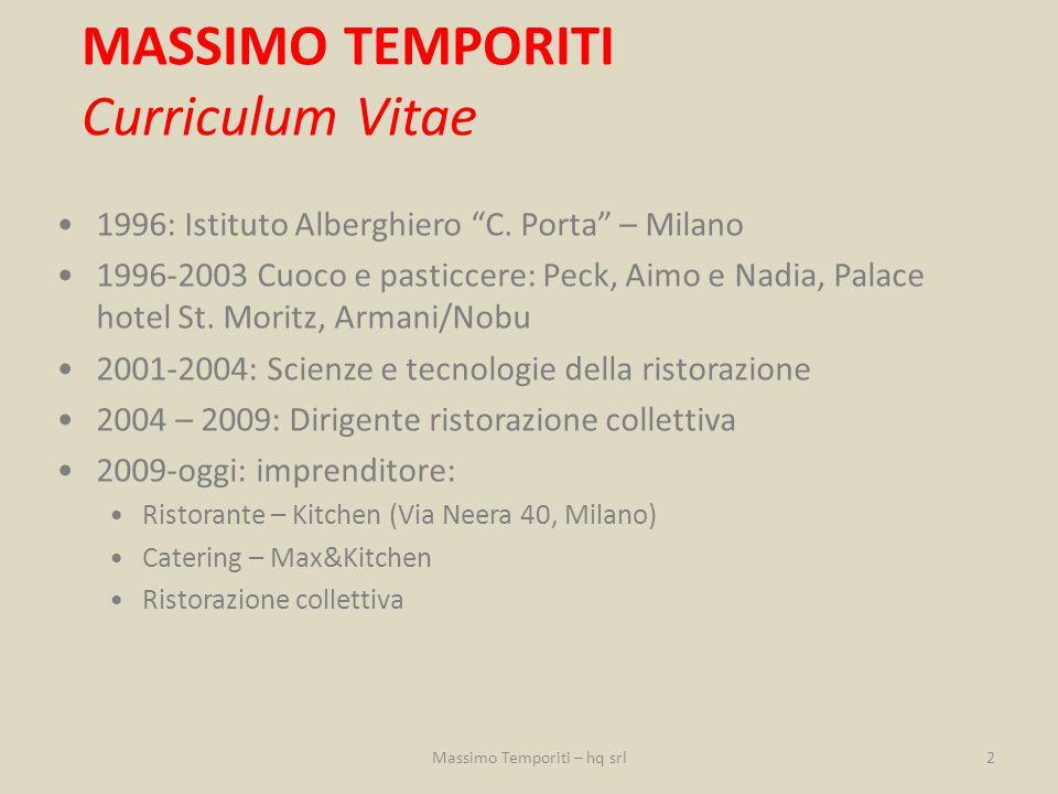 """1996: Istituto Alberghiero """"C. Porta"""" – Milano 1996-2003 Cuoco e pasticcere: Peck, Aimo e Nadia, Palace hotel St. Moritz, Armani/Nobu 2001-2004: Scien"""