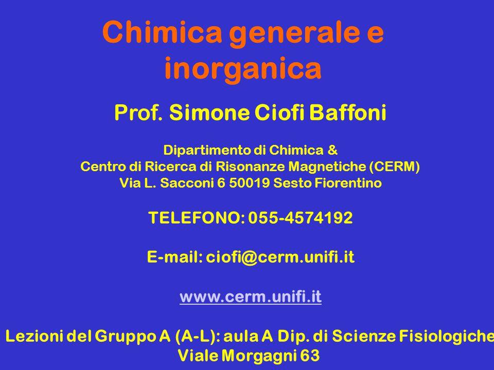 I.Bertini, C. Luchinat, F. Mani CHIMICA, Seconda Edizione Casa Editrice Ambrosiana I.
