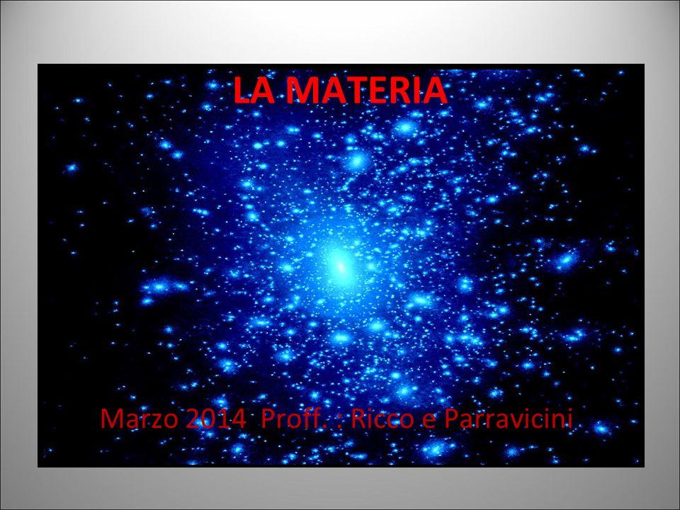 La materia (dal latino mater = madre) è tutto ciò che occupa uno spazio e ha una massa.