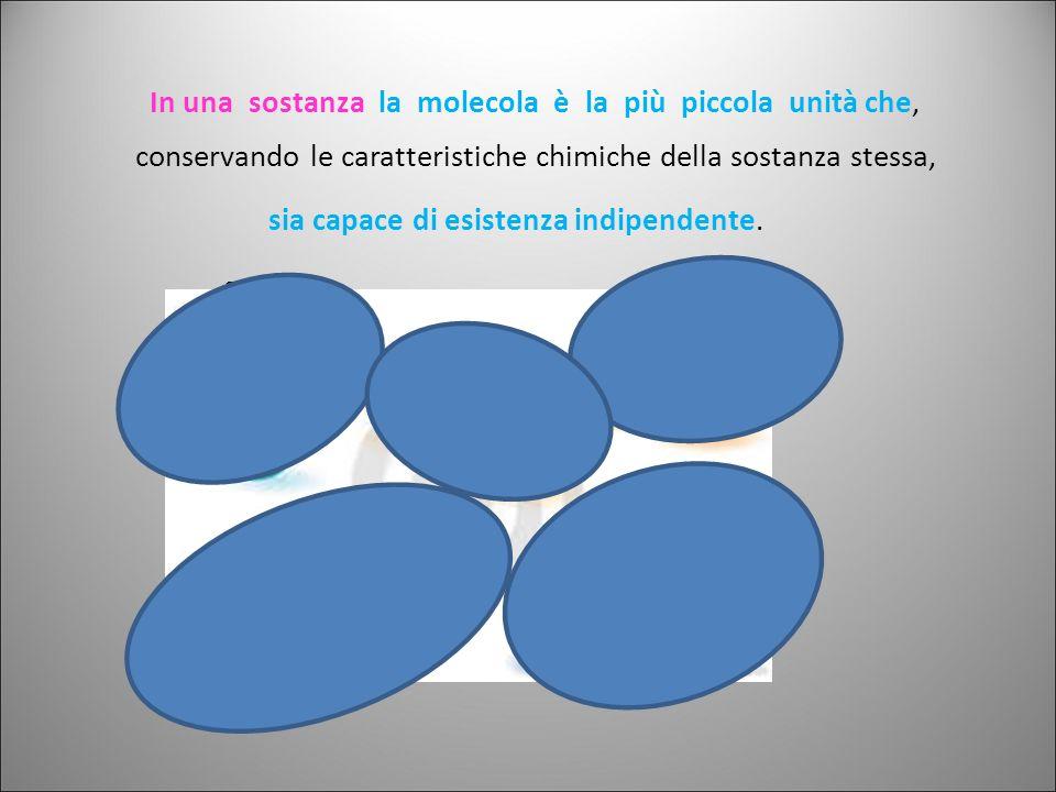 se costituite da atomi uguali se costituite da atomi di natura diversa Le sostanze possono essere: composte composte semplici e