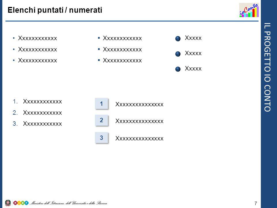 IL PROGETTO IO CONTO Forme Box 8 Frecce Linee