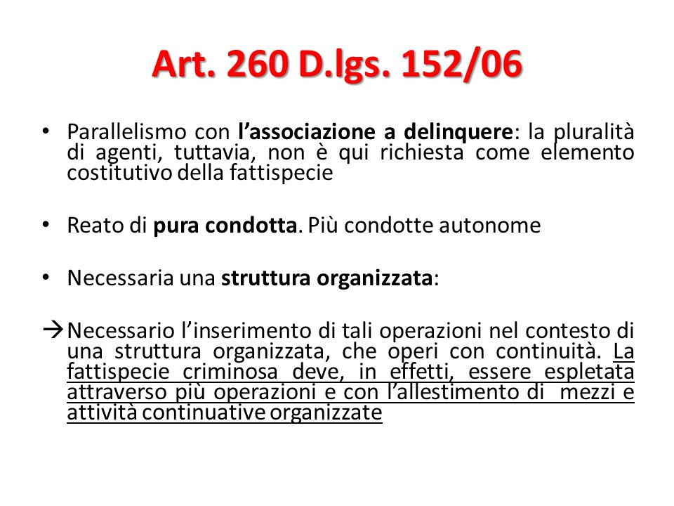 Art.260 D.lgs.