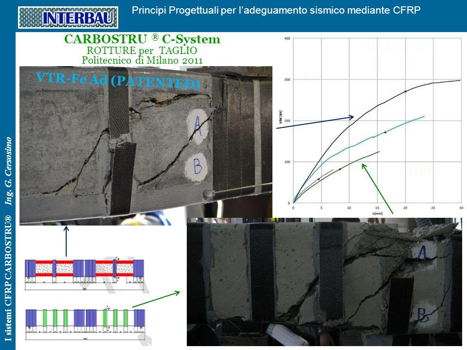77 Principi Progettuali per l'adeguamento sismico mediante CFRP I sistemi CFRP CARBOSTRU® Ing. G. Cersosimo CARBOSTRU ® C-System ROTTURE per TAGLIO Po