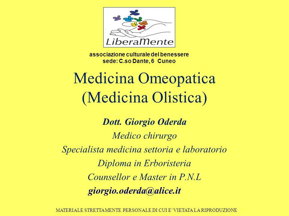 Medicina Omeopatica (Medicina Olistica) Dott.