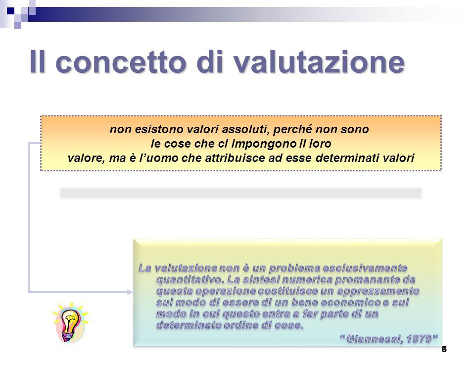 Il concetto di valutazione 5 non esistono valori assoluti, perché non sono le cose che ci impongono il loro valore, ma è l'uomo che attribuisce ad ess