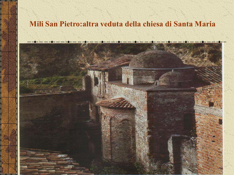Mili San Pietro:altra veduta della chiesa di Santa Maria