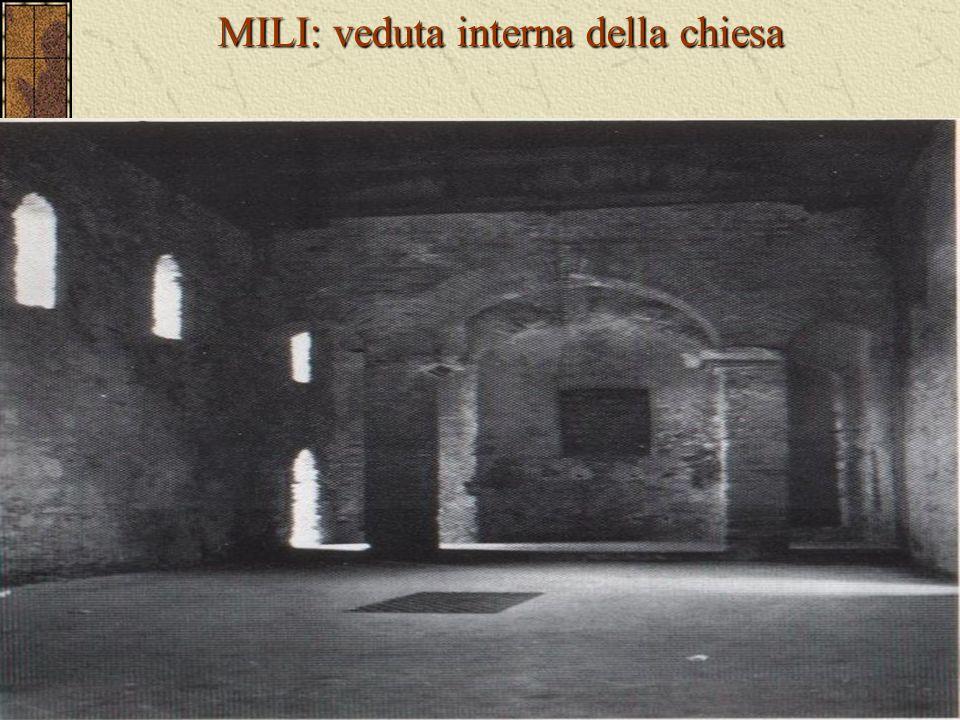 MILI: veduta interna della chiesa