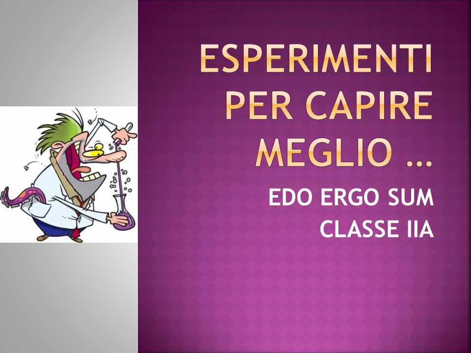 EDO ERGO SUM CLASSE IIA