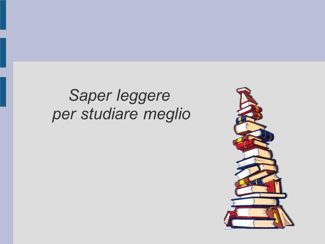 Saper leggere per studiare meglio