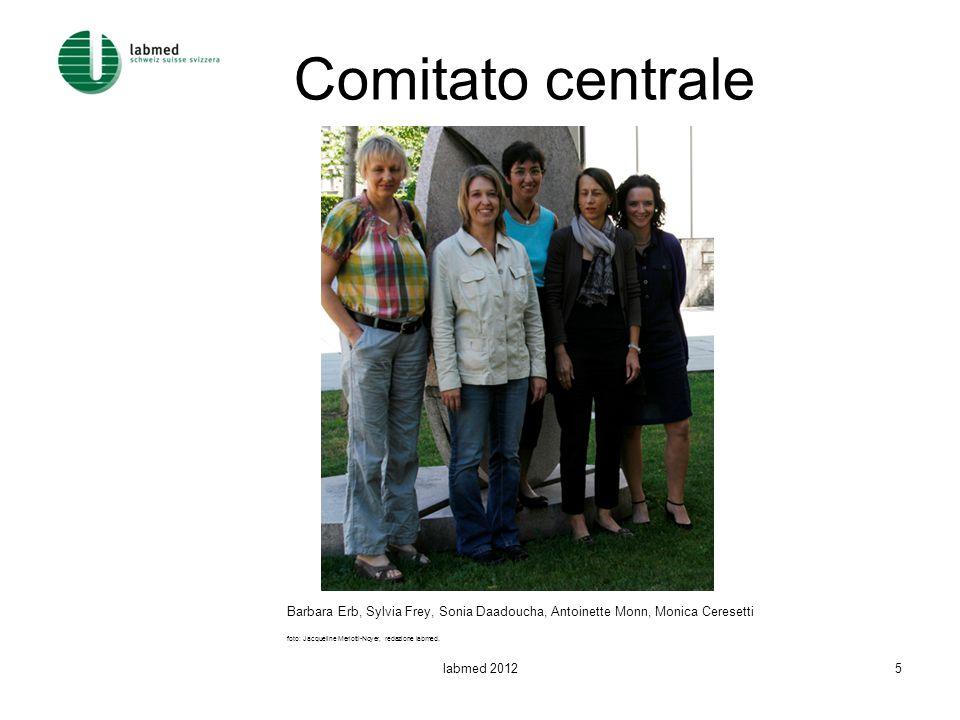 Comitato centrale Barbara Erb, Sylvia Frey, Sonia Daadoucha, Antoinette Monn, Monica Ceresetti foto: Jacqueline Merlotti-Noyer, redazione labmed. labm
