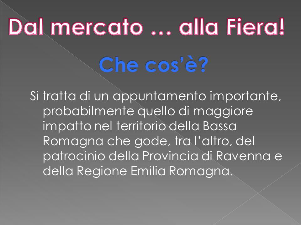 Si tratta di un appuntamento importante, probabilmente quello di maggiore impatto nel territorio della Bassa Romagna che gode, tra l'altro, del patrocinio della Provincia di Ravenna e della Regione Emilia Romagna.