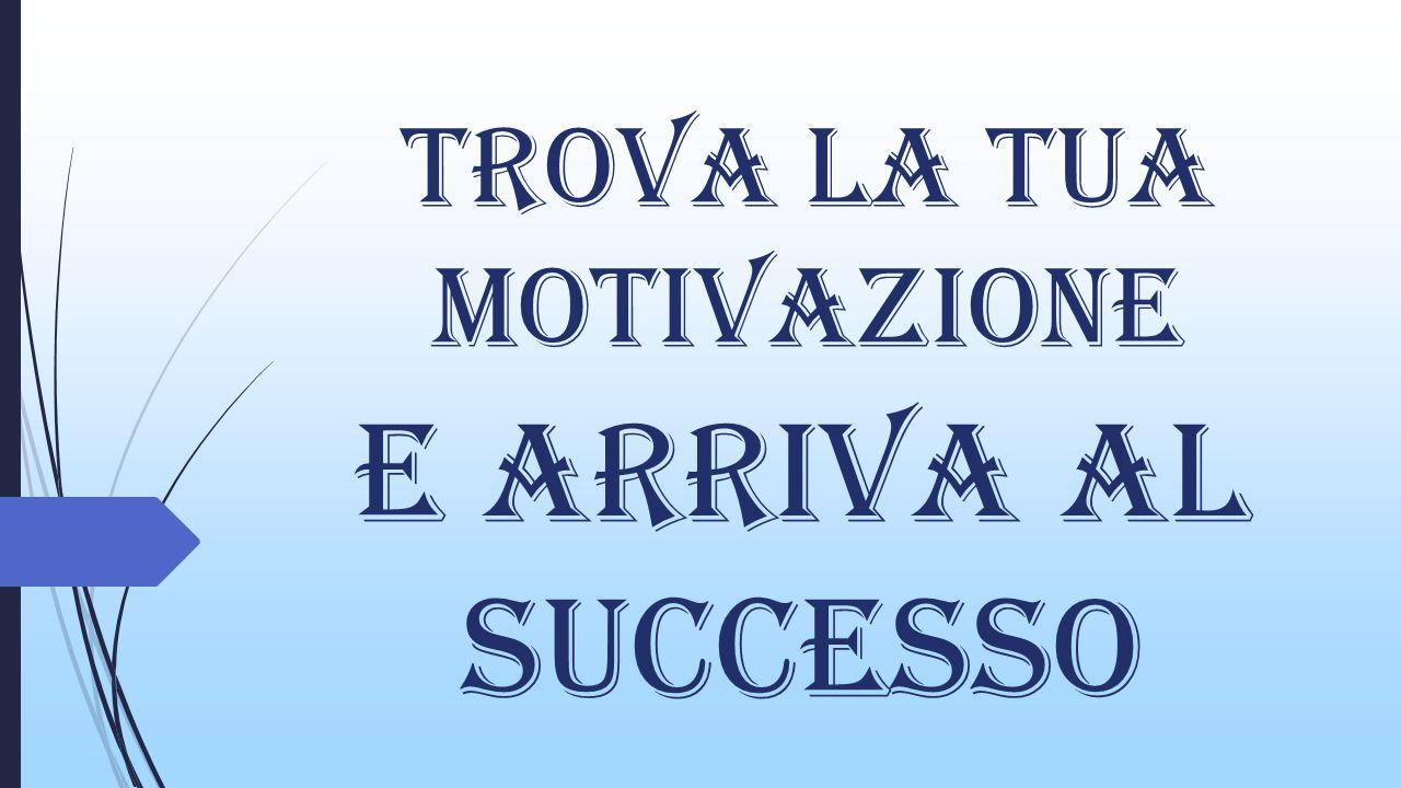 Trova la tua motivazione E arriva al successo