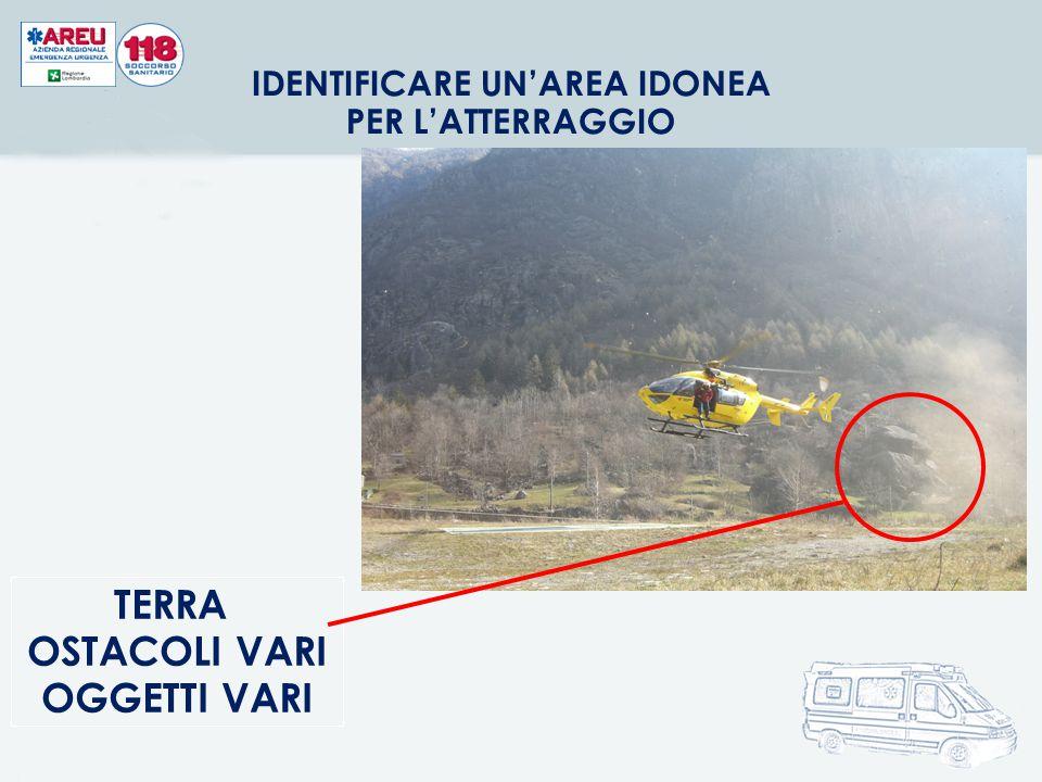 IDENTIFICARE UN'AREA IDONEA PER L'ATTERRAGGIO TERRA OSTACOLI VARI OGGETTI VARI