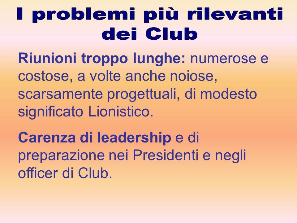 Incentivare l'ingresso dei giovani nei Club proponendo loro facilitazioni (quota ridotta….).