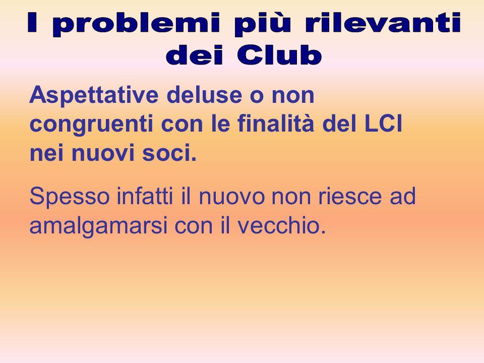 Migliorare l' info/formazione dei soci e degli officer dei Club..