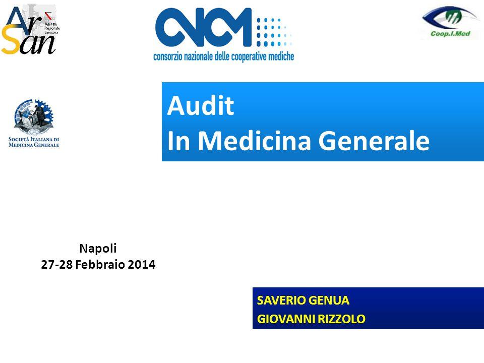 Audit In Medicina Generale SAVERIO GENUA GIOVANNI RIZZOLO Napoli 27-28 Febbraio 2014