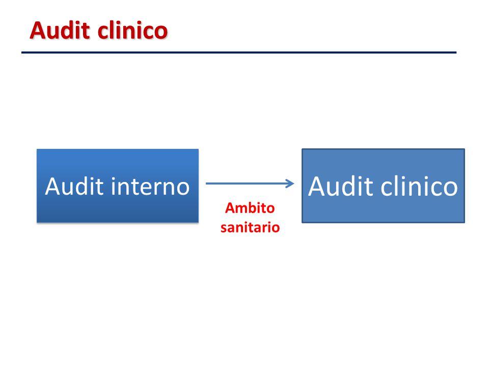 Audit clinico Audit interno Audit clinico Ambito sanitario