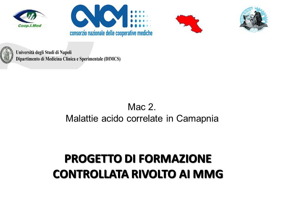 Mac 2. Malattie acido correlate in Camapnia PROGETTO DI FORMAZIONE CONTROLLATA RIVOLTO AI MMG S.I.M.G.