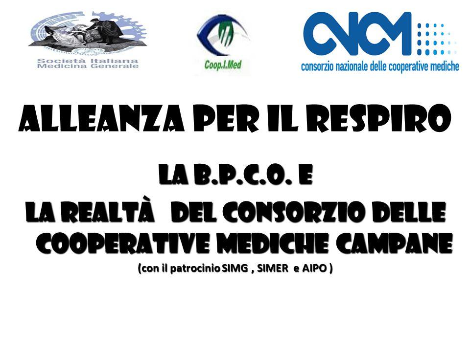 Alleanza per il Respiro La B.P.C.O. e la realtà del Consorzio delle Cooperative Mediche Campane (con il patrocinio SIMG, SIMER e AIPO )