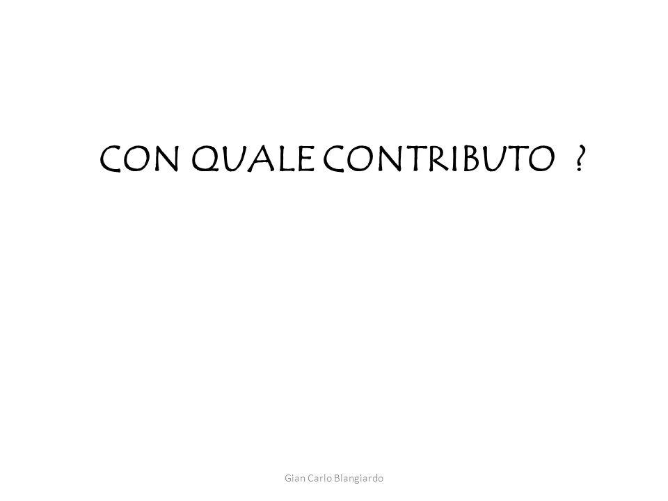 CON QUALE CONTRIBUTO ? Gian Carlo Blangiardo