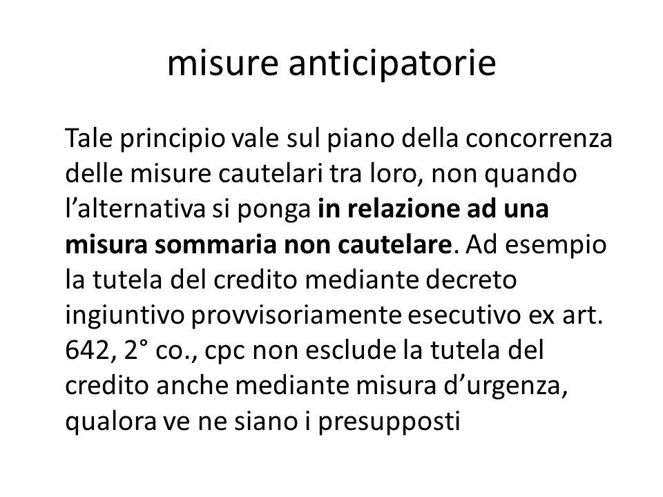 la tutela atipica d'urgenza, per situazioni assolute, critica Una volta sciolto l'ambito di applicabilità della misura atipica dell'art.